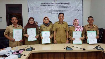 Pejabat Dinkes lakukan Penandatanganan Pakta Integritas