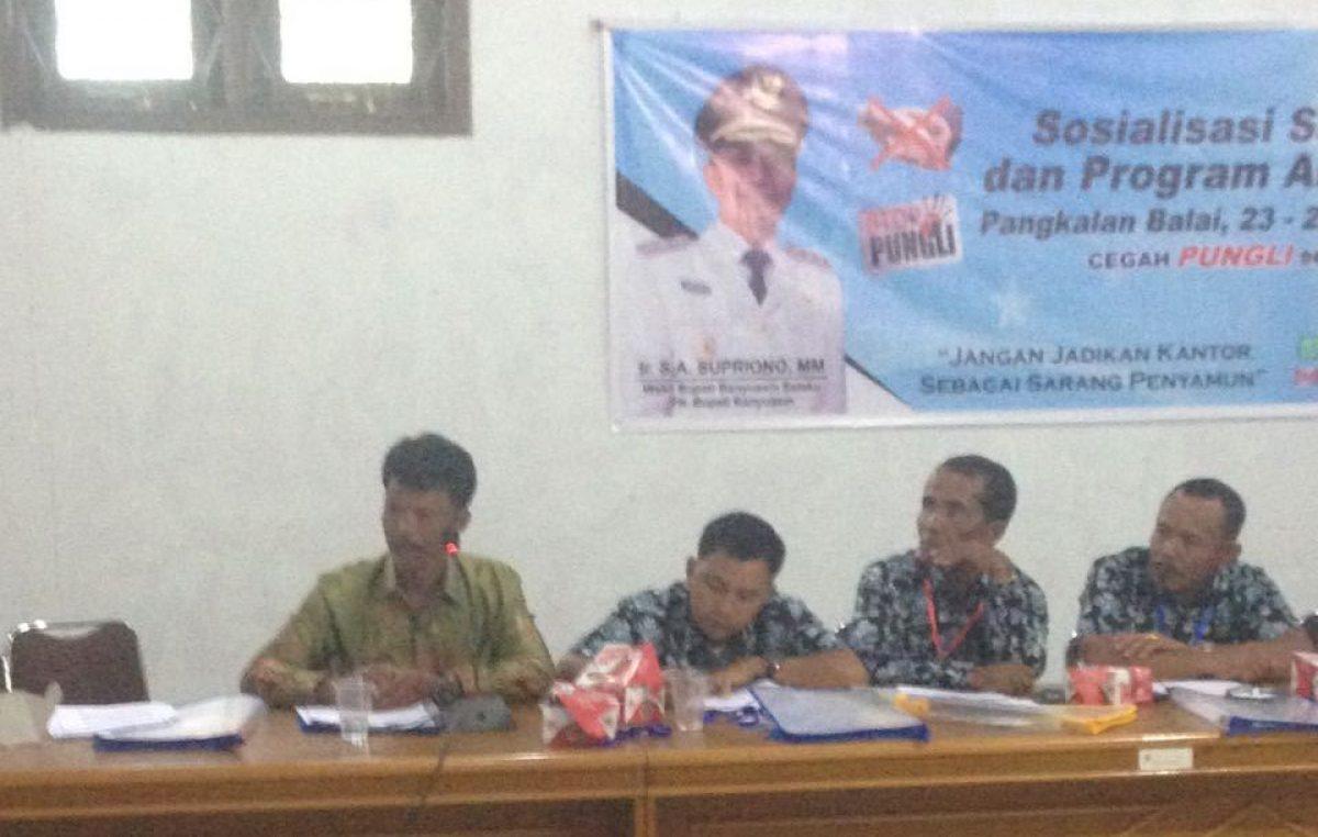 """Inspektorat Kabupaten Banyuasin Sosialisasi Satgas """"Saber Pungli"""