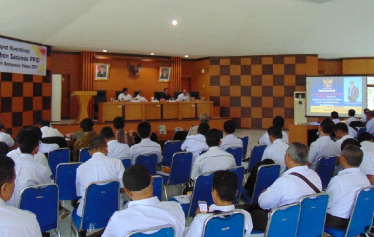 Rapat Koordinasi Perubahan Susunan PPID Kabupaten Banyuasin