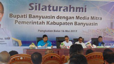 Silahturahmi Bupati Banyuasin dengan Media Mitra Pemkab Banyuasin
