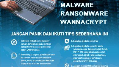 Antisipasi Terhadap Ancaman Malware Ransomware Jenis WannaCRY