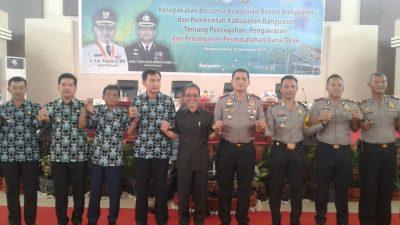 Pemkab Banyuasin – Polres teken Kerja Sama Kawal Dana Desa