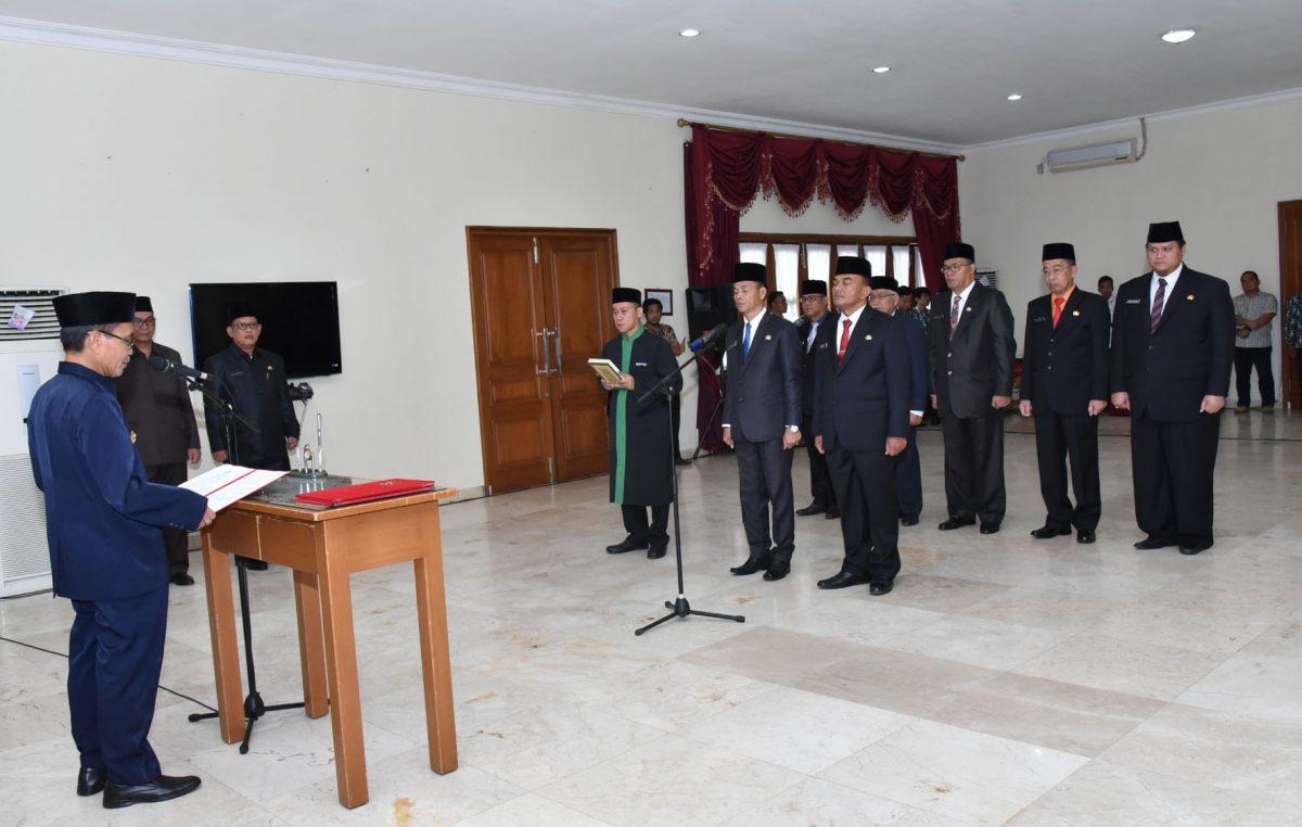 Dilantik, Tujuh Pejabat Tinggi Pratama Hasil Lelang Jabatan