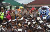 Polres Banyuasin dan Pemkab Banyuasin  Tandatangani  MoU Keselamatan Tertib Berlalulintas  sekaligus Launching Taman Lalulintas Goes to School