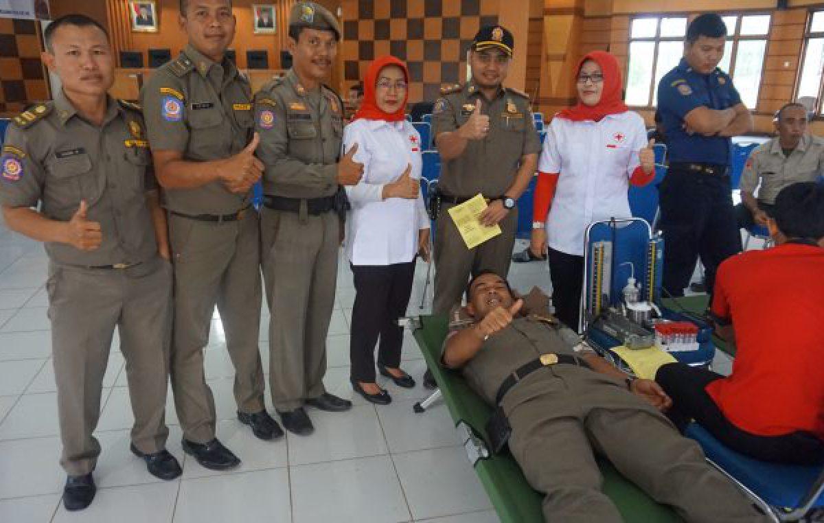 Ultah ke-68, Satpol PP Banyuasin Gelar Donor Darah