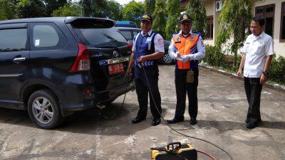 Kendaraan Dinas Banyuasin Uji Emisi Gas Buang