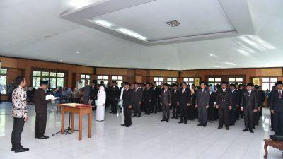 113 Pejabat Esselon III dan IV Dilantik, Bupati Supriono Ingatkan Pejabat Emban Amanah