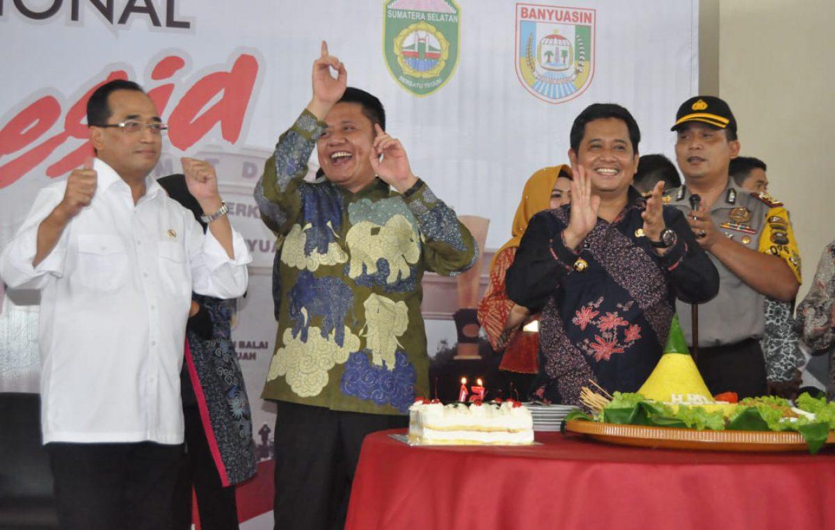 Bupati Banyuasin bersama Gubernur Sumsel dan Menteri Perhubungan Sepakat selesai Masalah Infrastruktur Sungai di Banyuasin