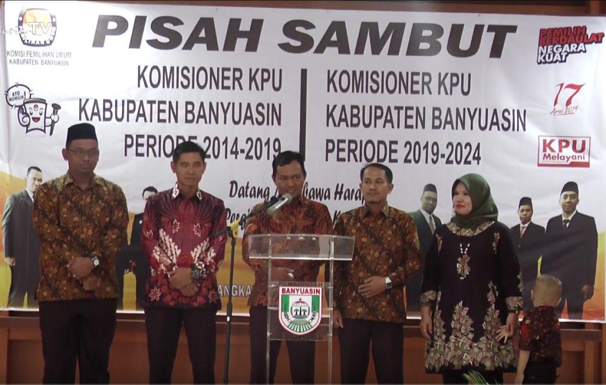 Pisah sambut Komisioner KPU Banyuasin