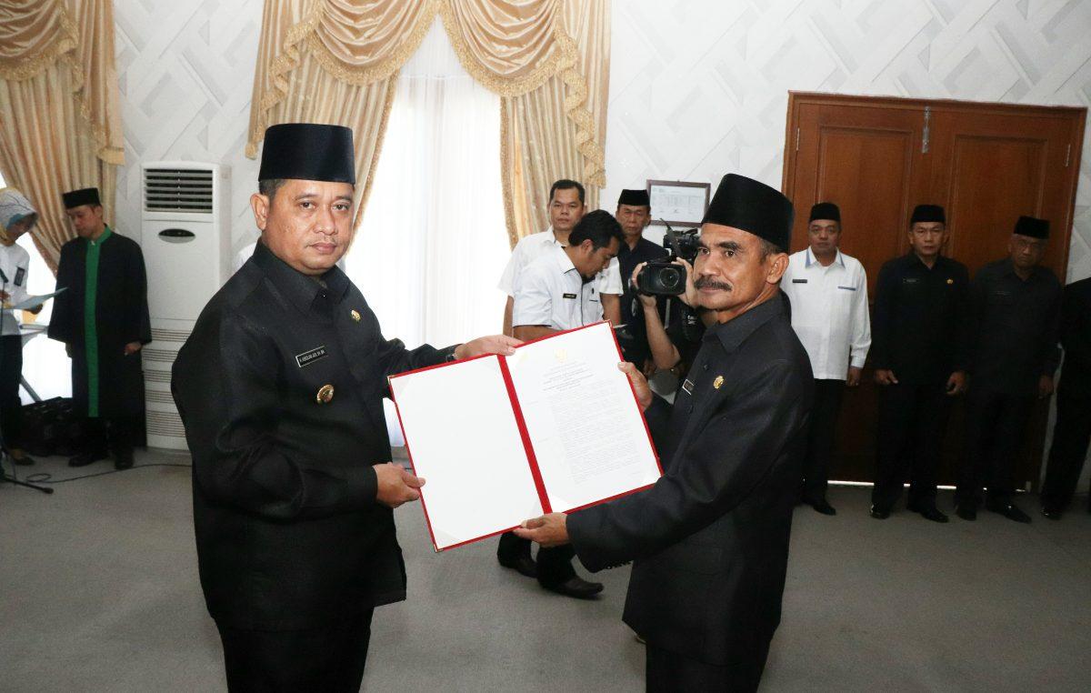 Bupati Askolani Tunjuk HM Yusuf Penjabat Sekda Banyuasin