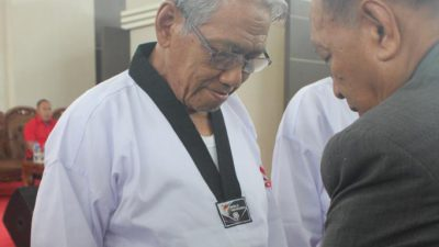 311 Atlet Taekwondo Bertarung Rebut Piala Bupati Banyuasin 2019