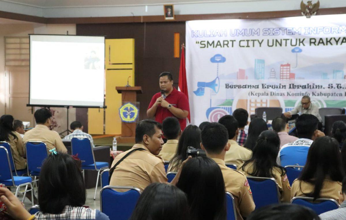 Didepan milenial kampus, Erwin kenalkan Konsep Smartcity Banyuasin