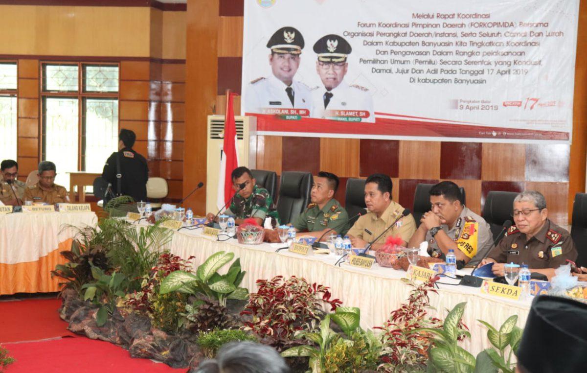 Pemerintah Kabupaten Banyuasin Minta Seluruh Camat, Lurah Sukseskan Pemilu