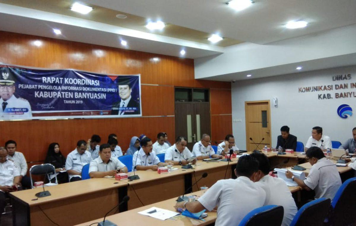 Rapat Koordinasi Pejabat Pengelolaan Informasi dan Dokumentasi (PPID) Kabupaten Banyuasin Tahun 2019