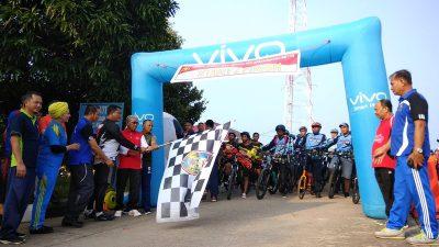 Memeriahkan HUT Bhayangkara ke 73, Polres Banyuasin Gelar Sepeda Sehat dan Jalan Sehat