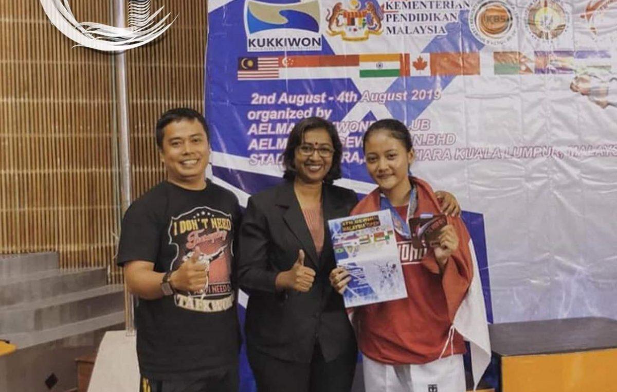 Ajeng Atlet Muda Taekwondo Banyuasin Sabet mendali Perunggu di Malaysia