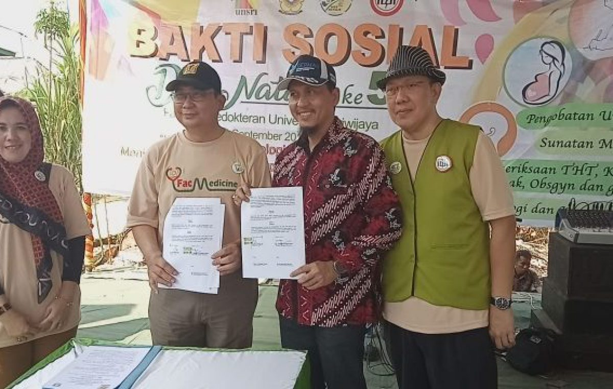 Dokter Alumni FK Unsri Masuk Desa Terpemcil, Tanggulangi Penyebaran Penyakit ISPA