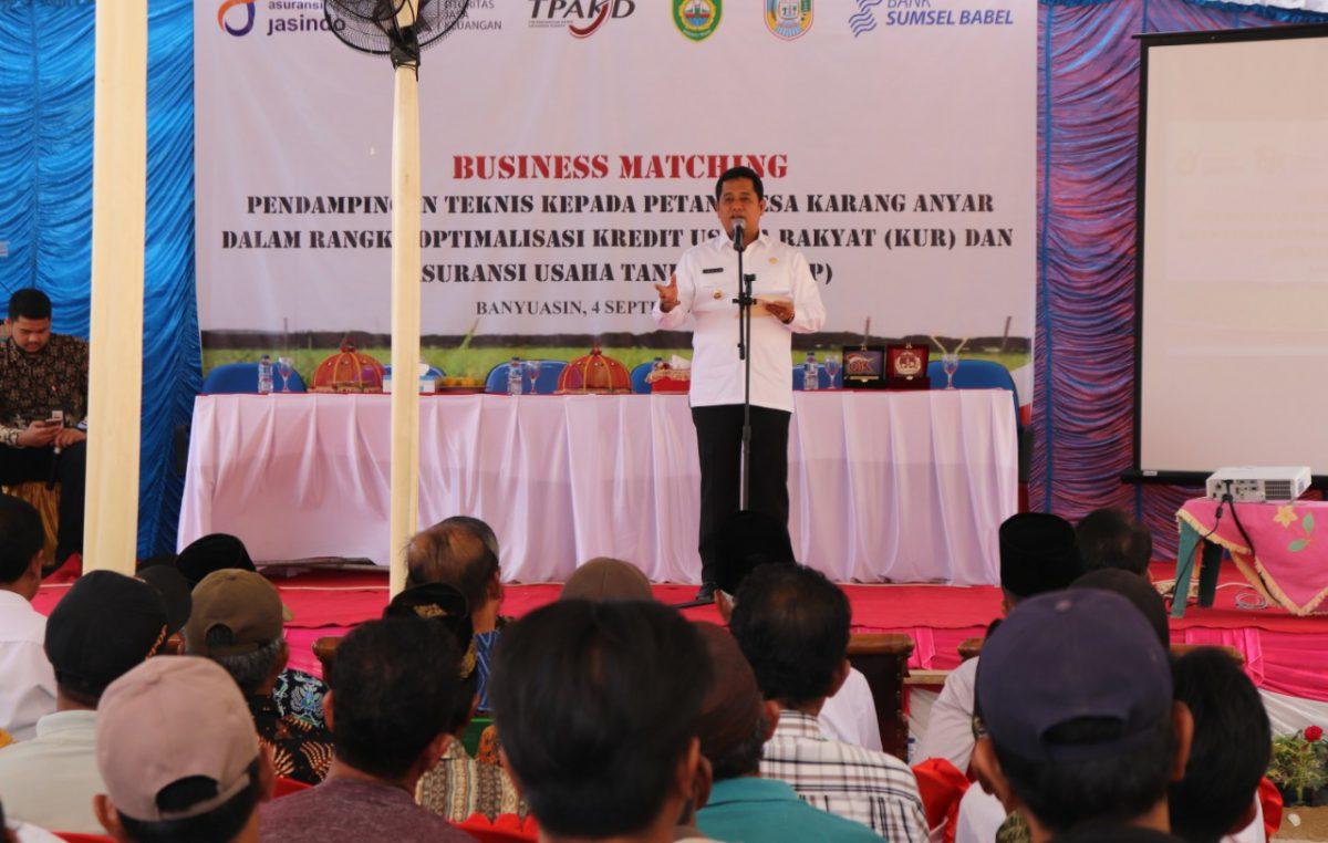 Wujudkan Petani Bangkit, Askolani Rangkul Perbankan dan Asuransi Bina Petani di Banyuasin.
