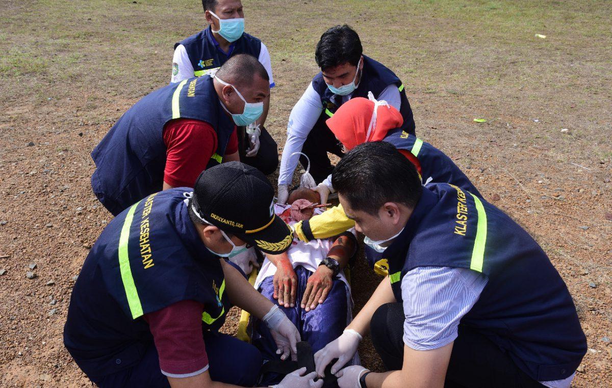 Pemkab Banyuasin Beri Pelatihan Simulasi Penanggulangan Krisis Kesehatan Terhadap Bencana Alam