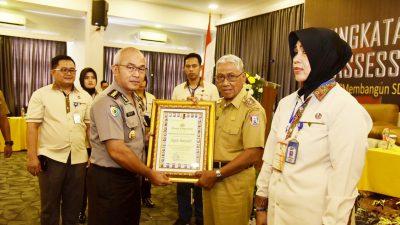 Assesment Center Polda Sumsel Beri Penghargaan Pada Pemkab Banyuasin