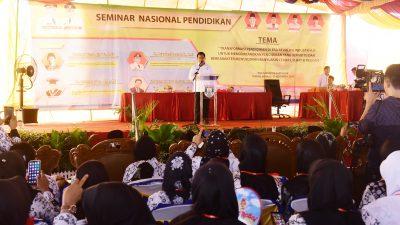 Bupati Askolani Resmi Buka Seminar Nasional Peringatan HUT PGRI ke-74 dan HGN
