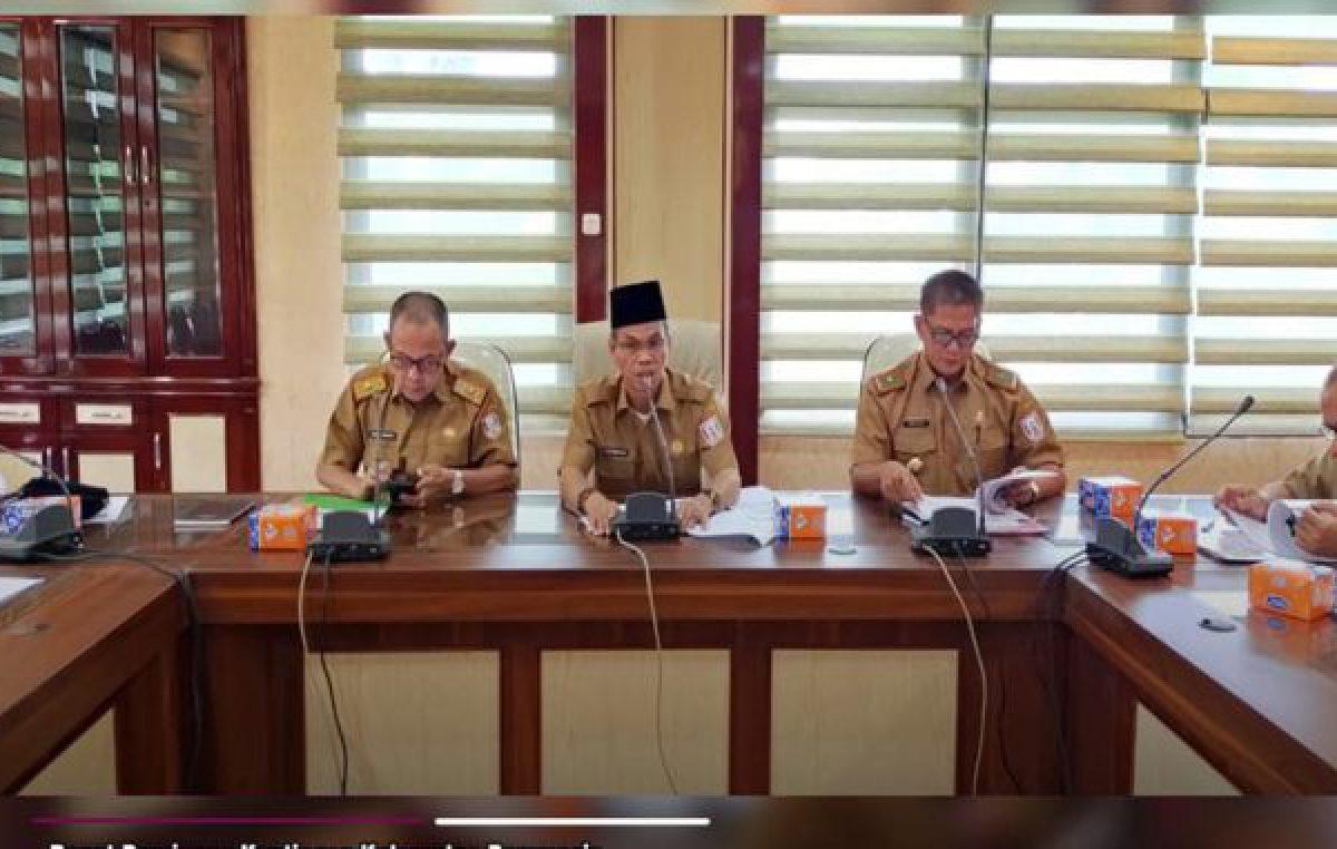 rapat persiapan Kontingen Kabupaten Banyuasin pada Pekan Olahraga Provinsi (PORPROV)