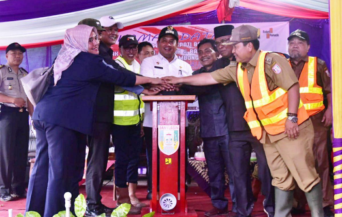 Akhirnya Jalan Poros Muara Padang – Muara Sugihan di Launching