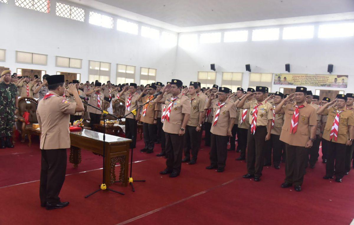 Pelantikan dan Pengukuhan Pengurus Gerakan Pramuka Kabupaten Banyuasin Masa Bakti 2020-2025
