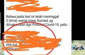 Aminuddin: Tim Kesehatan Makamkan Jenazah Bukan Positif Corona Pakai APD