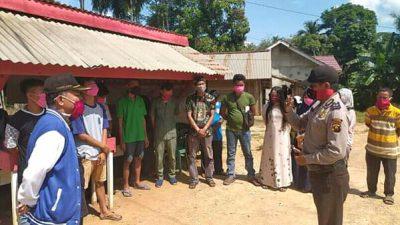 Polsek Betung Giat Patroli Kamtibmas Dan Imbauan Cegah Covid-19