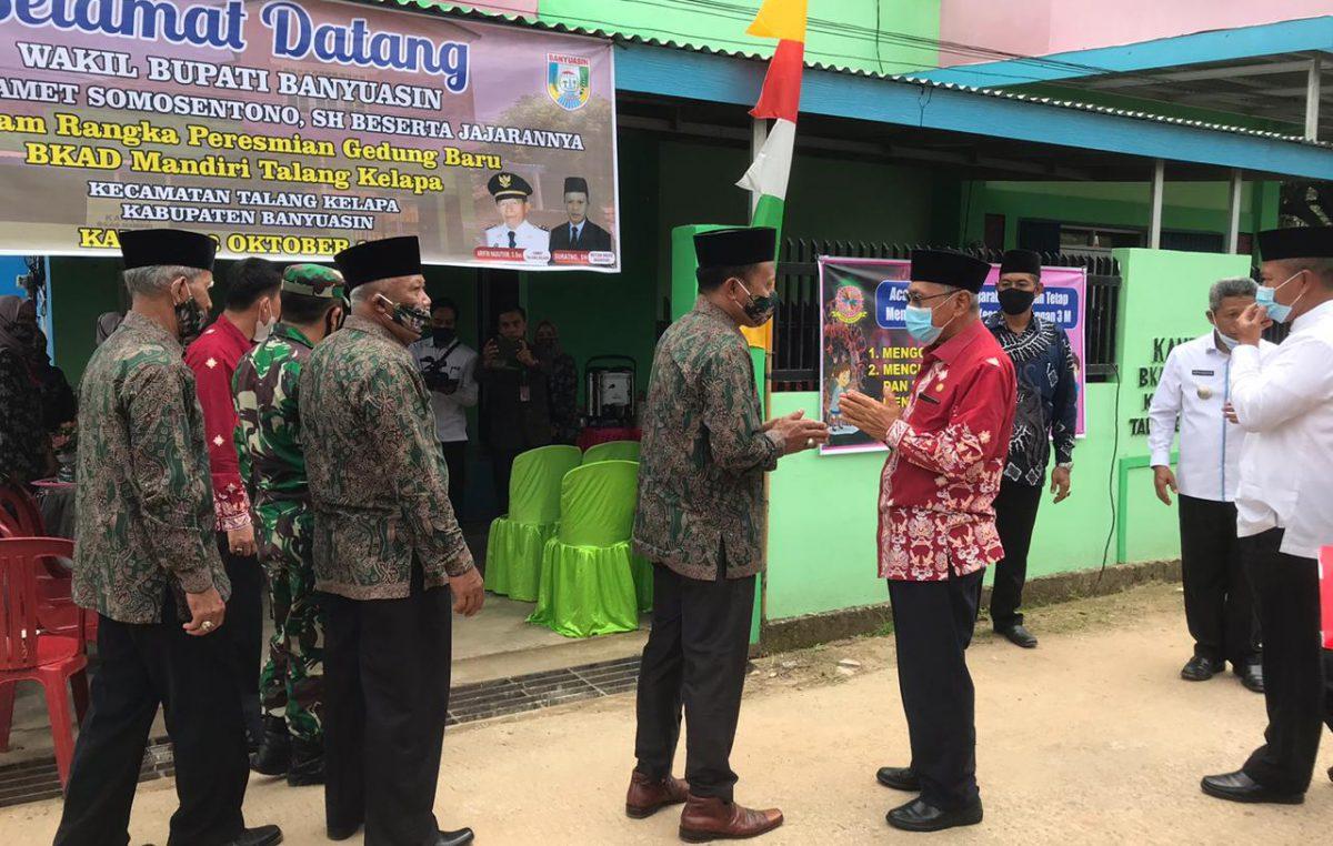 Hari Santri Nasional, Wabup H. Slamet Resmikan Gedung BKAD Talang Kelapa