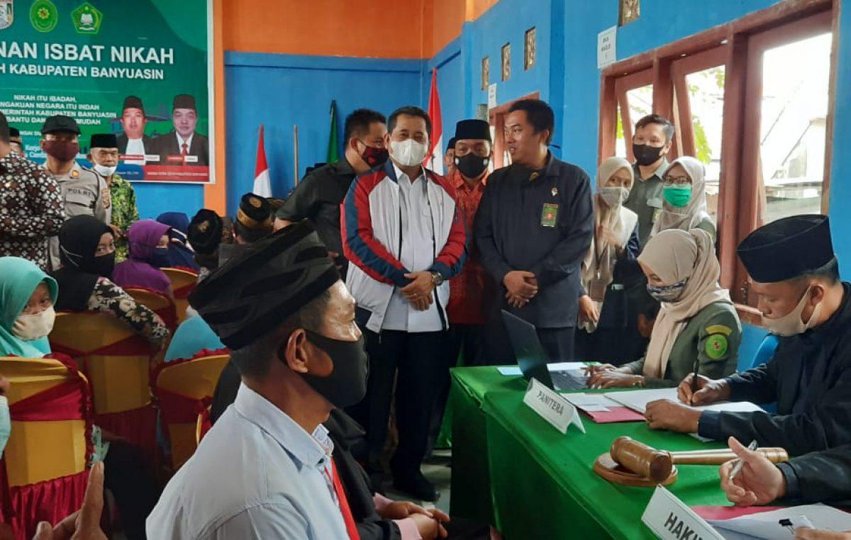 Bupati Banyuasin Membuka Pelayanan Isbat Nikah di Kecamatan Rambutan