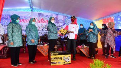 Dukung PKK Kecamatan Untuk Aktif, dr.Fitri Kunjungi Kecamatan Makarti Jaya